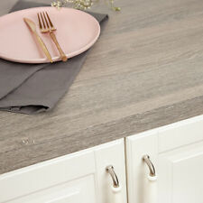 Silver Oak Wood Effect Laminate Kitchen Worktops 38mm Thick, Square Edged