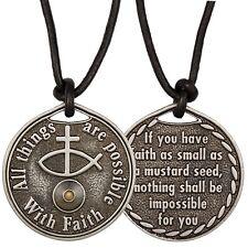 Mustard Seed Coin Necklace Faith