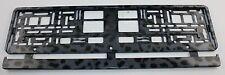 Kennzeichenhalter Kennzeichenhalterung schwarz/grau Leopard Optik