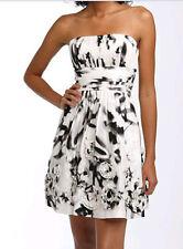 $458 BCBG BLACK COMBO STRAPLESS TAFFETA DRESS NWT 12