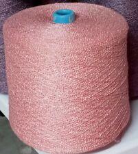 Rayon Nylon Ric Rak 1200 boucle Knitting Weaving Scarf Yarn Pink Free Shipping