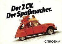 Citroen 2CV Prospekt 1984 1/84 D Autoprospekt brochure prospetto prospecto Auto