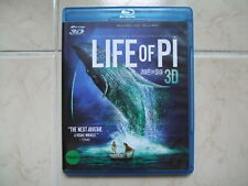 Life Of Pi (2015, Blu-ray) 2D + 3D Combo / used