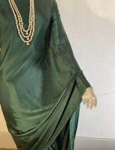Indian plain beautiful satin silk saree with falls done without blouse