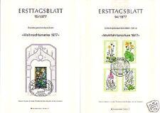 Berlin 1977: Wohlfahrtmarken + Weihnnachten Ersttagsblätter Nr 556-559 + Block 6