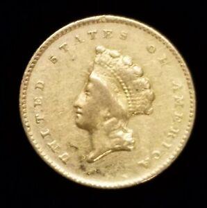 1855-O $1 Princess Head Type 2 Gold Coin w/ VF Details Rare!