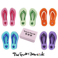 TFB - HOLIDAY VIBES STUD EARRINGS Funky Novelty Flip Flops Sandals Beach Summer