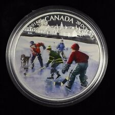 2014 $20 Fine silver coin Pond Hockey , come with CAO and Box not sale tax