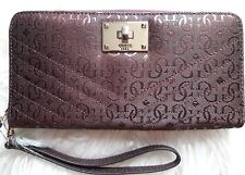 GUESS Halley SLG Large Zip Around Wristlet MSRP $50
