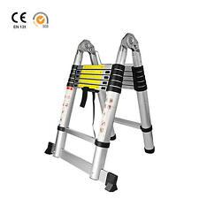 12.5ft Aluminum Telescoping Telescopic Extension Ladder Multi Purpose A-Type