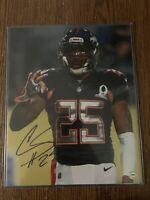 NFL Denver Broncos Chris Harris #25 autographed 8x10 Football Photo coa & holo
