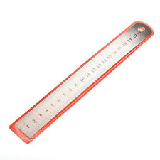 Silver bottom 1PC New Stainless steel 20cm Metal Ruler Metric Rule Precision MAC