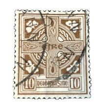 IRELAND, SCOTT # 75, 10p. VALUE BROWN  DEFINITIVE 1922-23 ISSUE USED