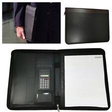 Cartella Portadocumenti Uomo Ufficio Nera Calcolatrice Porta Blocco Lavoro 838