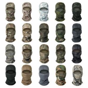 Tactical Camo Balaclava Full Face Mask Paintball Airsoft CS Neck Warmer Headgear