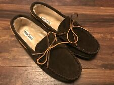 NEW MINNETONKA Men's Pile Lined Hardsole 3908 Slipper Size 13 Chocolate Brown