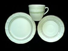 ROYAL ART POTTERY Cream/Green/Gold  Trio - cup+saucer+plate Set x1 ( 6 available
