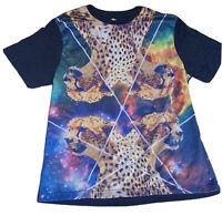 Hybrid Tees Mens XL Leopard Graffic Tee Shirt