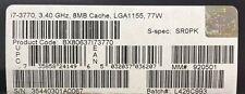 Intel BX80637I73770 SR0PK Core i7-3770 Processor 8M Cache, 3.90 GHz NEW