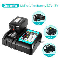 DC18RC Battery Charger for Makita 18V Li-ion Battery BL1830 BL1840 BL1850 BL1430