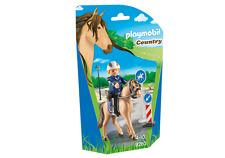 playmobil COUNTRY N° 9260 Montado Policía con alemáN Caballo de deporte