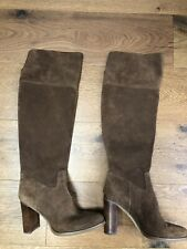 Michael Kors Tan Suede Knee High Boots, SIze UK6 Hardly Worn! Net A Porter