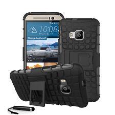 Für HTC One M9 Schwerlast Schock Proof Hart Case Back Cover + Display + Stylus