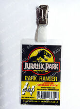 Jurassic Park ID Badge Park Ranger Dinosaur Cosplay Prop Costume Gift Comic Con