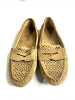 Cynthia Rowley Shoes Womens Size 6.5M Camel Suede MoccasinTan Driving Loafers