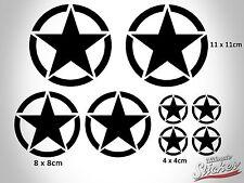 Großes US Army Stern Set Auto Aufkleber Big Star Sticker Hotrod Rat Schwarz|Weiß