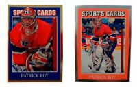 (2) Patrick Roy Odd-Ball Hockey Card Lot Montreal Canadiens