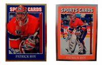 (2) Patrick Roy Odd-Ball Hockey Card Lot Montreal Canadiens