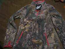 LADIES  fleece camo 1/4 ZIP PULLOVER  S/CH 4-6  new with tags very soft