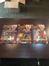 3 1995 Exploding Ghost Rider  + BLAZE & Outcast Glow In The Dark Toy Biz Figure
