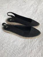 V By Very Ladies Espadrilles, Black Size 7, Brand New