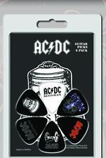 AC/DC - Guitar Pick Set - 6 Picks - Hells Bells Design- Licensed New in Pack