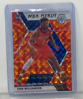 2019-20 Panini Mosaic Zion Williamson Orange Prizm NBA Debut Rookie RC #269