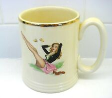 Lord Nelson Ware Pin Up Glamour Girl Beer Mug, 1950s Mid Century Vintage.