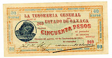 Mexico/Oaxaca… P-S960 … 50 Pesos … 1915 … *XF+*