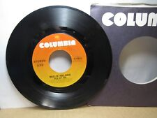 Old 45 RPM Record - Columbia 3-10834 - Willie Nelson - All of Me / Unchained Mel