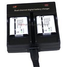 Dual Charger +2x Battery For Olympus Li-50B Tough TG-610 TG-620 TG-810 SZ11 SZ12