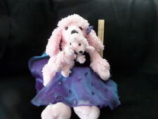 """Build a Bear 20"""" Plush Pink Ballerina Poodle Dog w/ Baby Puppy Magnetic Fluffy"""