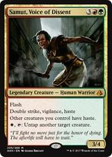 SAMUT, VOICE OF DISSENT Amonkhet MTG Gold Creature—Human Warrior Mythic Rare