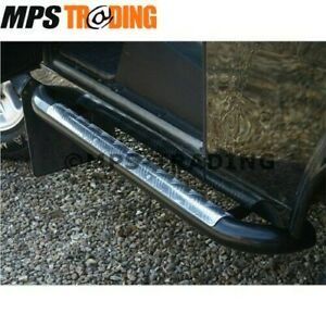 LAND ROVER DEFENDER 90 3'' TUBE SIDE STEPS / ROLLED CHEQUER PLATE PAIR- DA7012