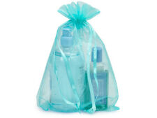 "5 Aqua Sheer Organza Bags 8x11"" Summer Holiday Showers Anniversary Weddings Gift"