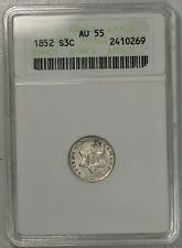 1853 3c cent silver. OLD ANACS AU55... upgradeable?