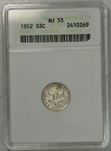 1852 3c cent silver. OLD ANACS AU55... upgradeable?
