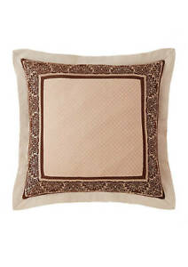 Waterford AILEEN Euro Sham JACQUARD NATURAL BROWN NEW