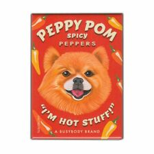 "Retro Pets Magnet, Peppy Pom Spicy Peppers, Pomeranian Dog, 2.5"" x 3.5"""