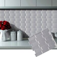 3D Self Adhesive Subway Sliver Tile Wall Sticker Kitchen Home DIY Decor W6